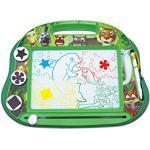 Lexibook CRANX550 Magische magnetische Tiermotiven-Zeichentafel, Magnettafel für Kinder, künstlerisches kreatives Spielzeug für Mädchen und Jungen, Stift und Magnete, Grün