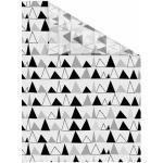 LICHTBLICK Fensterfolie Dreiecke, selbstklebend, Sichtschutz schwarz Fensterdekoration Deko Wohnaccessoires