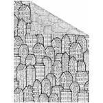 LICHTBLICK Fensterfolie Stadt, selbstklebend, Sichtschutz schwarz Fensterdekoration Deko Wohnaccessoires