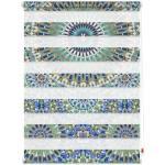 LICHTBLICK ORIGINAL Doppelrollo Duo Rollo Motiv Orientalisches Muster, Lichtschutz, ohne Bohren, freihängend, bedruckt blau Rollos Bohren Jalousien