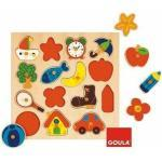 Liderpapel - Goula Holzpuzzle Silhouetten 15 Teile