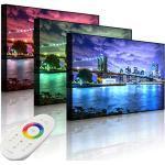 Lightbox-Multicolor | LED Bild | Skyline New York | 60x40 cm | Front Lighted