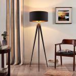 Lindby Benik Tripod-Stehlampe, schwarz, gold