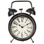 linoows Rustikale Tischuhr im Landhausstil, Nostalgie Uhr wie Oma's Wecker