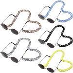 LIPIODOL 5 Stücke Brillenketten Halskette Brillenhalter Acryl Lanyard Ketten Kordel Brillenkette mit maskenkette für Brillen und Sonnenbrillen