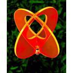 LISA DEKO Gartenstecker zweiteilige Kugel orange - 17 cm mit 75 cm Metallstab - Sonnenfänger/Suncatcher