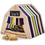 little dove Hause und Zelt mit Spitze für Hund oder Haustier, abnehmbar und waschbar,mit Matratze (Bunte) … (S)