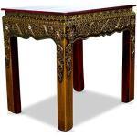 livasia Roter Tisch im Glasmosaik-Look, Beistelltisch, Podest, Couchtisch, Glasmosaiktisch,