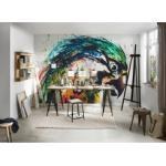 living walls Fototapete ARTist Parrot, Papagei, Vlies, glatt blau Fototapeten Tapeten Bauen Renovieren