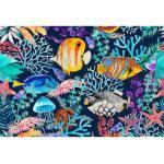 living walls Fototapete ARTist Underwater, Unterwasser Fische Korallen, Vlies, glatt blau Fototapeten Tapeten Bauen Renovieren