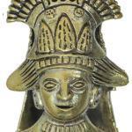 Lobe Ohr Piercing Ohrgewicht Gold Antik 18mm Maya Häuptling Oxidiert Messing 47, 6G
