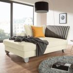 loftscape Recamiere Burnie Creme Webstoff 190x86x107 cm (BxHxT) mit Schlaffunktion/Bettkasten Modern