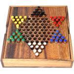 Logica Spiele Art. Sternhalma - Brettspiel aus Edlem Holz - Mehrspieler Strategiespiel - Reiseversion