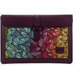 Londo Echtleder Tasche / Hülle Kompatibel mit MacBook Pro - 15 & 16 Zoll (Lila)