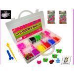 Loom Bands Gummi Armband mit Webrahmen u. Webhaken loom Bänder Kinder Geschenk