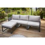 Lounge-Set Willa 4-teilig Aluminium-Gestell Anthrazit