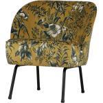 Loungesessel in Gelb Bunt Blumenmuster