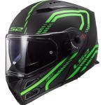 LS2 Metro Evo FF324 Firefly Klapphelm, schwarz-grün, Größe 2XS, schwarz-grün, Größe 2XS