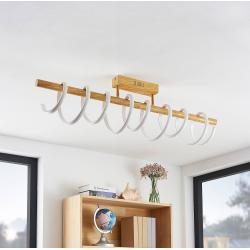 Lucande Milora LED-Deckenlampe 100 cm, eiche