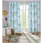 Lüttenhütt Vorhang Weltkarte, Nachhaltige Kindergardine blau Wohnzimmergardinen Gardinen nach Räumen Vorhänge
