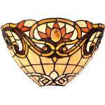 Lumilamp 5LL-5778 Wandlampe/Wandleuchte Art Deco Tiffany Stil 30 15 20 cm 1x E14 max 40w. dekoratives buntglas handgefertigt glasschirm