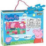 Luna 2in1 Riesen Boden Puzzle Malpuzzle Peppa Pig 48-teilig XXL Teile Format 90x60 cm