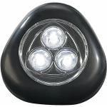 Lunartec Touch Push LED Licht | Lampe mit 3 Power LEDs | SCHWARZ | Stick Light