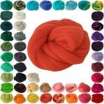 maDDma Bastelnaturmaterial »25g Filzwolle Märchenwolle Nassfilzen Trockenfilzen, unterschiedliche Farben«, orange, orangerot