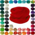 maDDma Bastelnaturmaterial »25g Filzwolle Märchenwolle Nassfilzen Trockenfilzen, unterschiedliche Farben«, rot, rot