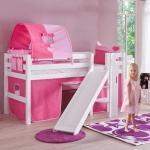 Mädchen-Etagenbett mit Rutsche Pink