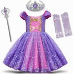 Mädchen Prinzessinnen Kostüm Handschuhe Krone Zepter Karneval Geburtstag Halloween Cosplay Kleidung