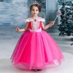 Märchen Prinzessin Prinzessin Aurora Kleid Blumenmädchen Kleid Mädchen Film Cosplay A-Linie Urlaubskleid Halloween Gelb Fuchsie Kleid Weihnachten Halloween Lightinthebox