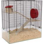 Mäusekäfig Hamsterkäfig Kleintierkäfig OREGON echtes Glas und tolle Ausstattung