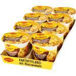 Maggi 5 Minuten Terrine Kartoffelbrei mit Röstzwiebeln 56 g, 8er Pack