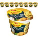 Maggi Fertiggericht 5 Minuten Terrine, Kartoffelbrei mit Creme fraiche, je 53g, 8 Stück