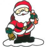 MagicGel Fensterbilder Weihnachten - Weihnachtsmann (15 x 18 cm), Fensterdeko für das Basteln mit Kindern