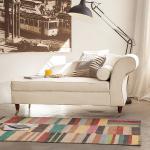 Maison Belfort Recamiere Colmar Beige Webstoff 166x80x77 cm (BxHxT) Landhaus