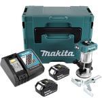 Makita DRT 50 RGJ Akku Multifunktionsfräse brushless 18V + 2x Akkus 6,0 Ah + Schnellladegerät im Makpac 3