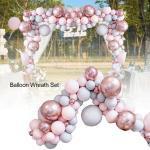 Makrone Pastell Rosa Ballonbogen Luftballon Ballon-Girlande Party Hochzeit Dekor