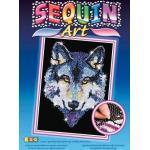 MAMMUT Sequin Art - Paillettenbild - Wolf