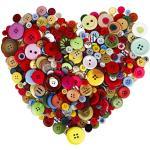 MaoXinTek Bunte Knöpfe Handwerk Runde Knopf für Kinder Handgemachte Dekorative DIY Malerei 700 STÜCKE Verschiedene Multicolor Harz Tasten Groß für Nähen
