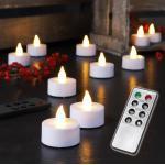 MARELIDA LED-Kerze »LED Teelichter - warmweiße flackernde Flamme - Timer - Inkl. Fernbedienung - 8 Funktionen - 10er Set« (10-tlg)