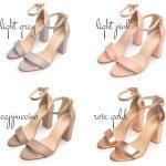Mari - Leder Block Fersen, Hochzeitsschuhe, Weiße Hochzeit Sandalen, Fersen Schuhe, Etwas Blau, Frauen Sandalen