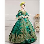 maria antonietta rokoko 18. jahrhundert urlaub kleid weihnachten flare kleid ballkleid prom kleid damen satin kostüm schwarz / burgund / grün vintage cosplay p Lightinthebox