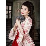 Marie Antoinette Rokoko Viktorianisch Mittelalterlich Renaissance 18. Jahrhundert Kleid Ballkleid Damen Kostüm Rot / Olive Vintage Cosplay Party Abiball 3/4 Är Lightinthebox