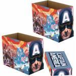 MARVEL Kiste »Captain America - Box mit Deckel zur Aufbewahrung - 22 x 29 x 39 cm«