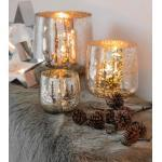 Mary/Windlicht, Glas, antik, silber, D.18, H18cm