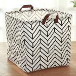 Masbekte Aufbewahrungskorb »Wäschekorb«, Faltkiste Aufbewahrungsbox, Kleidung Korb Spielzeugkiste Staubox, weiß, Pfeile