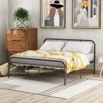 Masbekte Metallbett »Doppelbett«, Jugendbett, Ehebett, Metallbettrahmen mit Kopf und Fuß, Schlafzimmerbett, 200x140cm