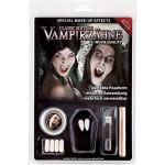 Maskworld Vampir Zähne Deluxe-Set inkl. Dentalmasse / Zahn-Kleber - hochwertige Wiederverwendbare Dracula Weiße Eckzähne für Halloween, Karneval & Fantasy - Classic Edition - Movie Quality